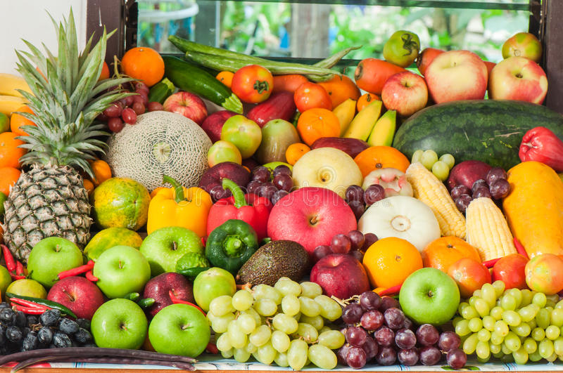 Plenty of fruits. And vegetables stock photos