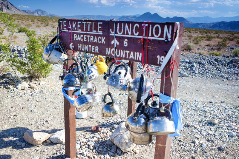 Plenty of Kettles Across Teakettle Junction in Death Valley in C. Alifornia, USA. Horizontal Image Orientation royalty free stock image
