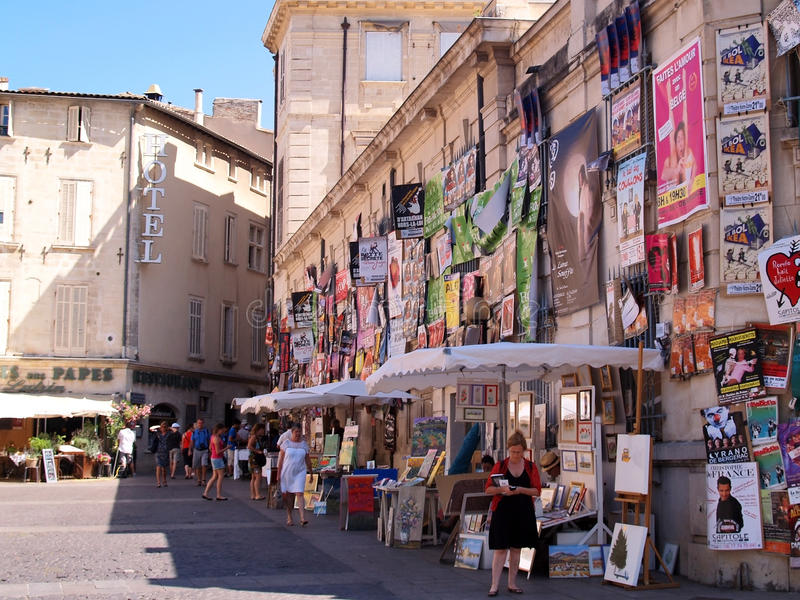 Plenty Of Playbills On A Wall In Avignon Editorial Stock Image