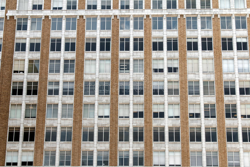 Plenty of Window Space. Closeup of a downtown office building with allot of windows royalty free stock photography