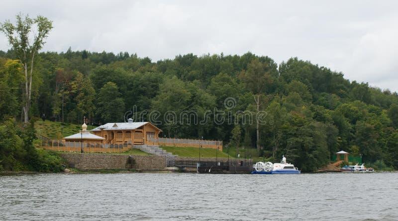Ples Ansicht vom Volga stockbilder