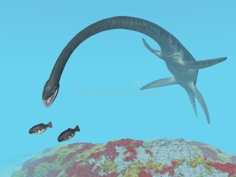 Plesiosaur薄板龙 皇族释放例证