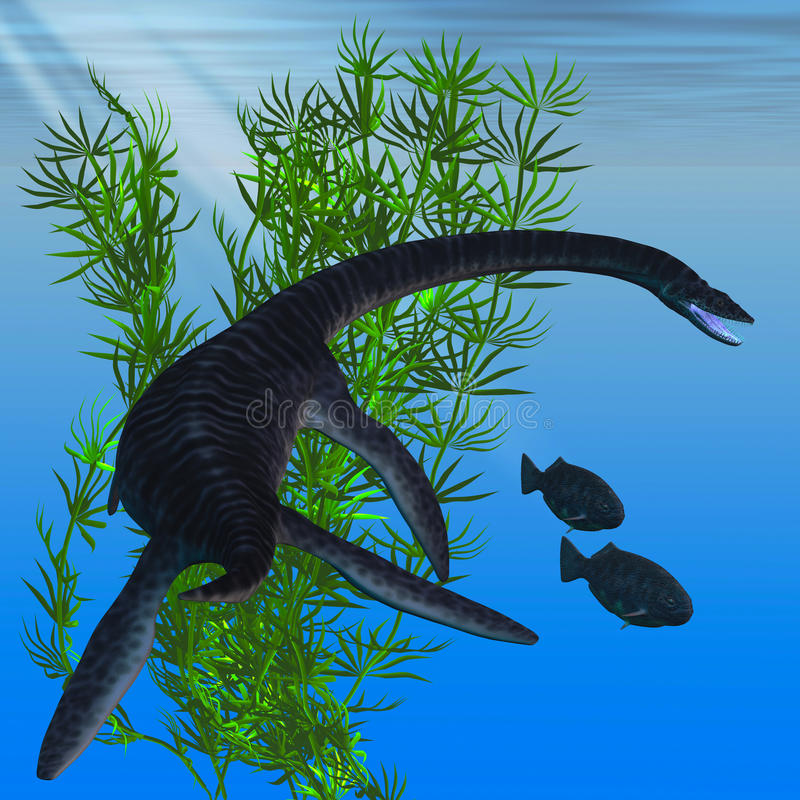 Plesiosaurus ilustração do vetor