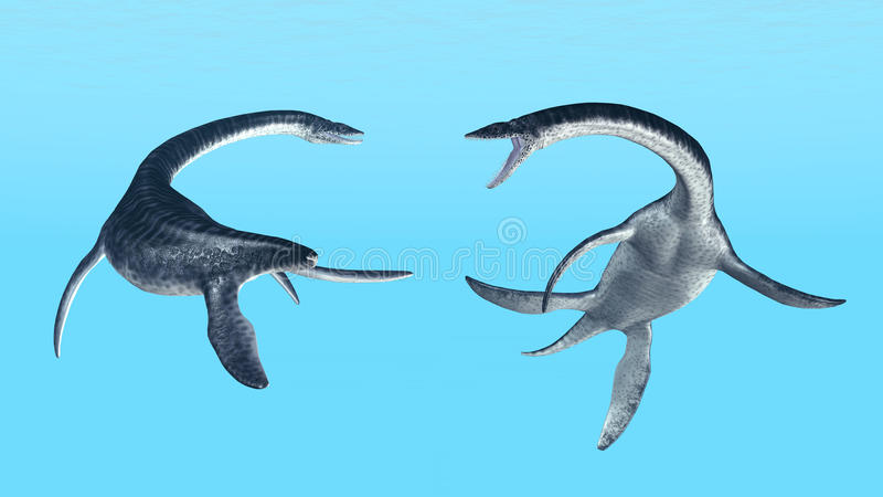 Plesiosaurus illustration stock