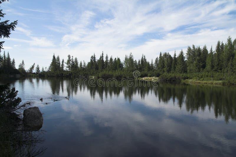 Pleso de Jamske - lago Jamske foto de stock