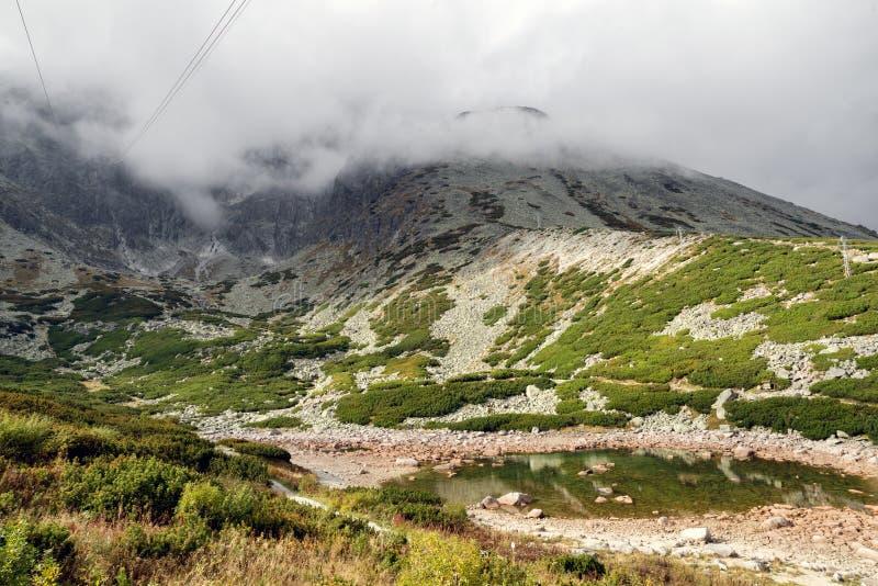 Pleso de Skalnate do lago em Tatras alto, Eslováquia fotografia de stock royalty free