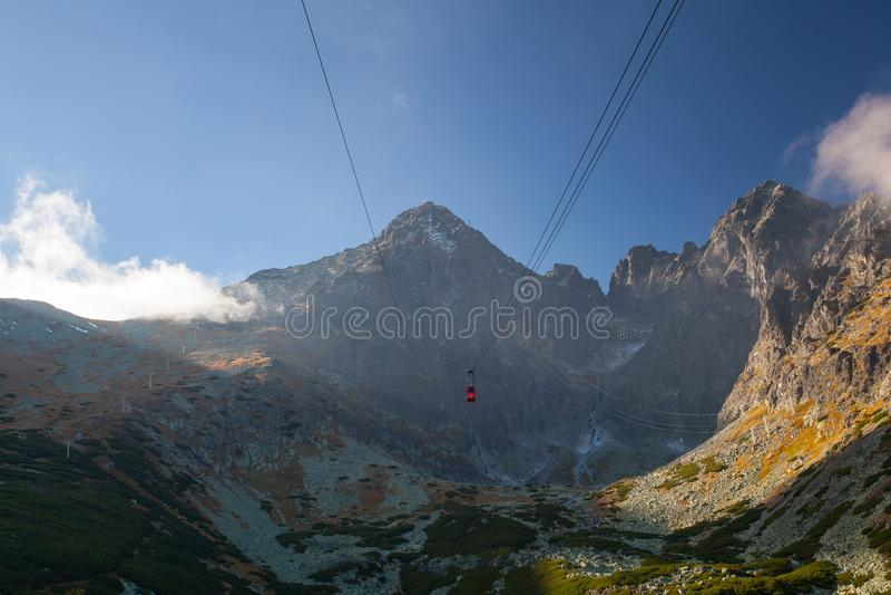 Pleso de Skalnate, montanhas de Tatras, Eslováquia foto de stock royalty free