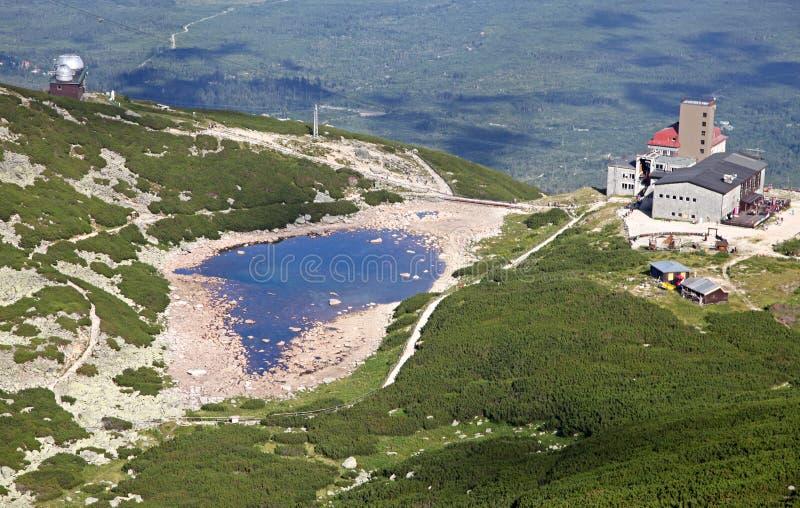 Pleso de Skalnate - tarn em Tatras alto, Eslováquia imagem de stock royalty free