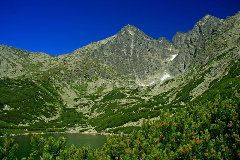 Pleso de Skalnate, Tatras elevado imagem de stock royalty free