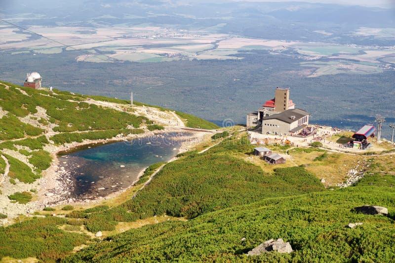 Pleso de Tarn Skalnate em Tatras alto, Eslováquia fotos de stock royalty free