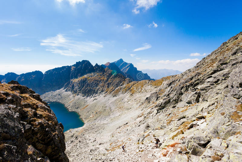 Pleso eslovaco Tatra de Vysne Wahlenbergovo foto de archivo
