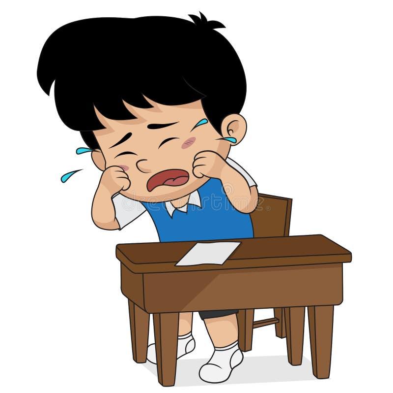 Pleurer d'enfant Vecteur et illustration illustration libre de droits
