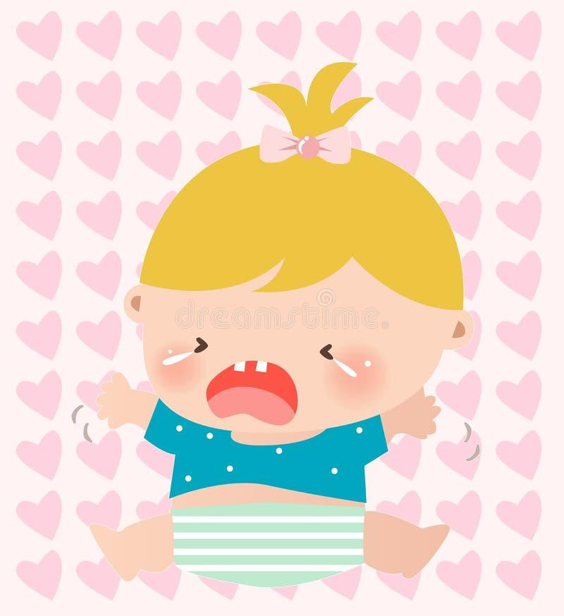 Pleurer de bébé illustration libre de droits