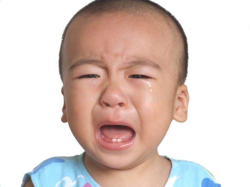 pleurer de chéri image libre de droits