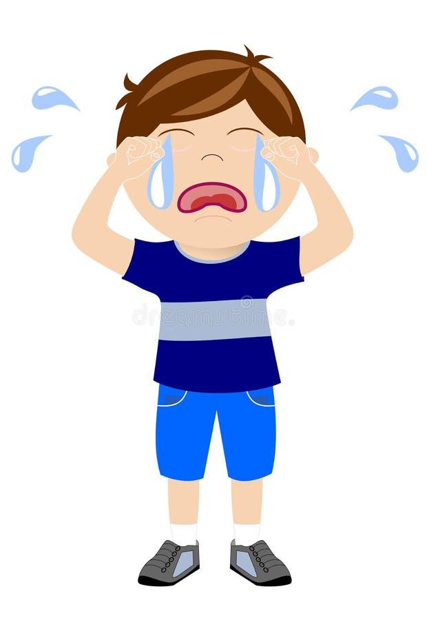 Pleurer de garçon illustration de vecteur