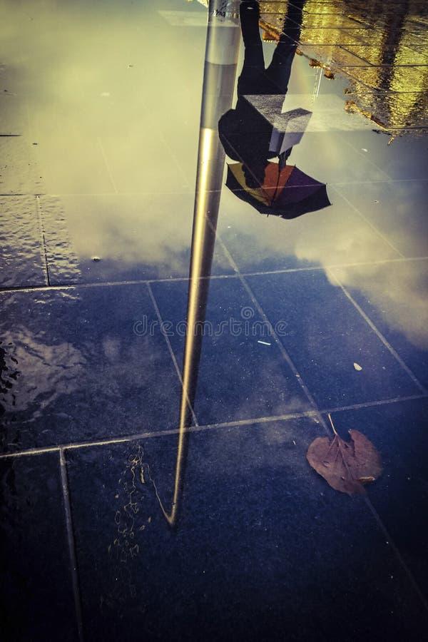Pleuvoir à Dublin photographie stock
