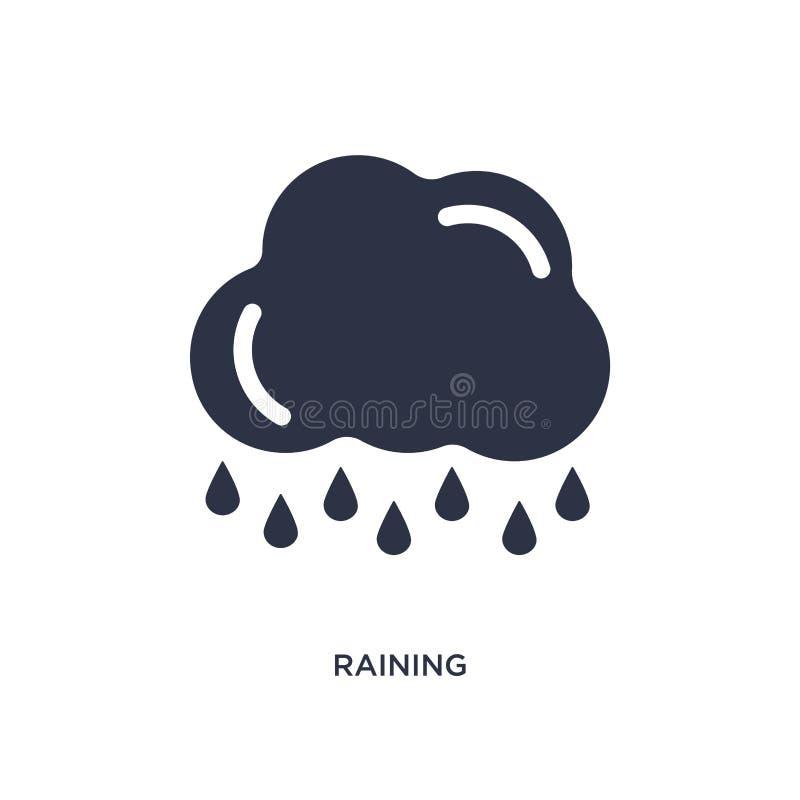 pleuvoir l'icône sur le fond blanc Illustration simple d'élément de concept d'écologie illustration de vecteur