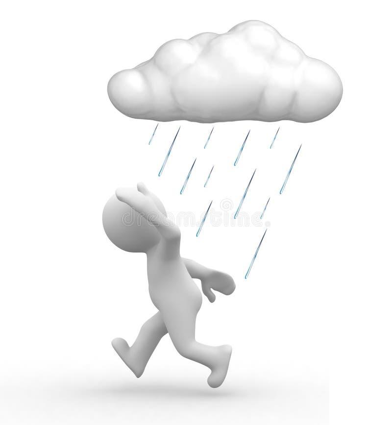 Pleuvoir les ennuis illustration de vecteur