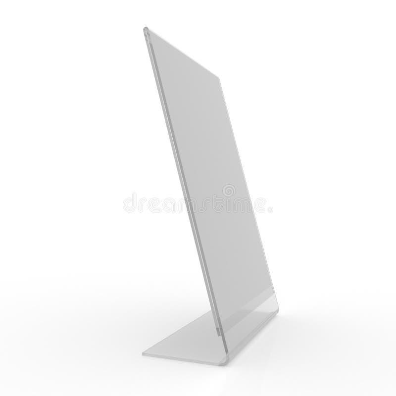 Plexi pokaz - karta właściciela mockup obrazy stock