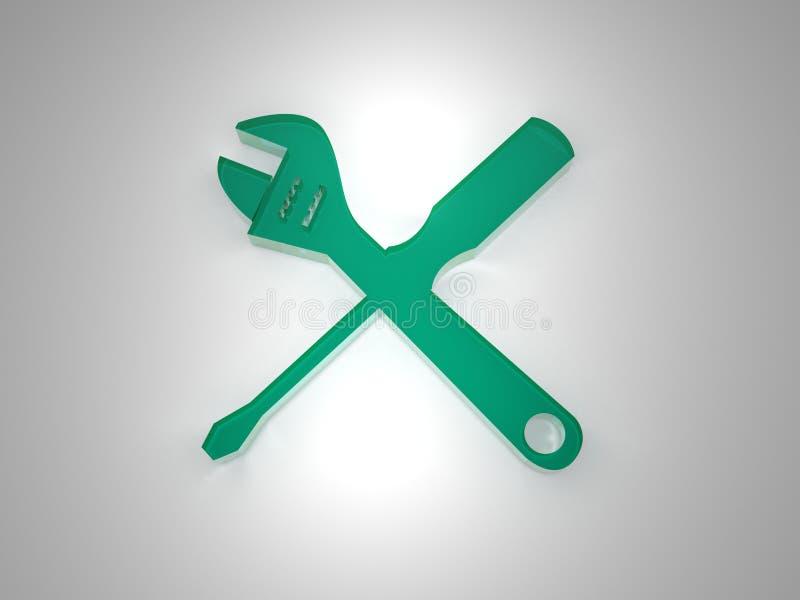Download Plexi setup icon green stock illustration. Image of grey - 22538656