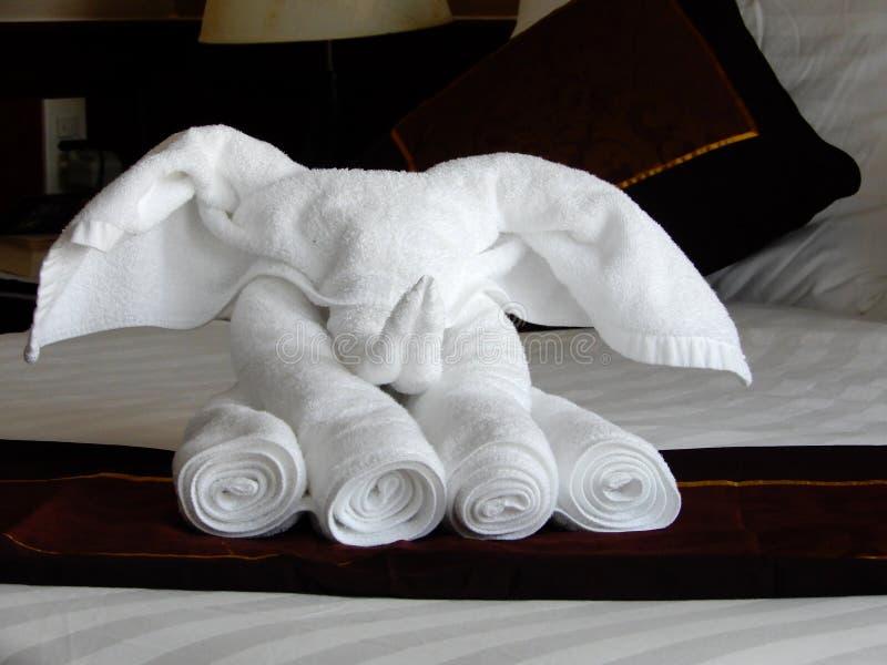 Pliage artistique de serviette photo stock