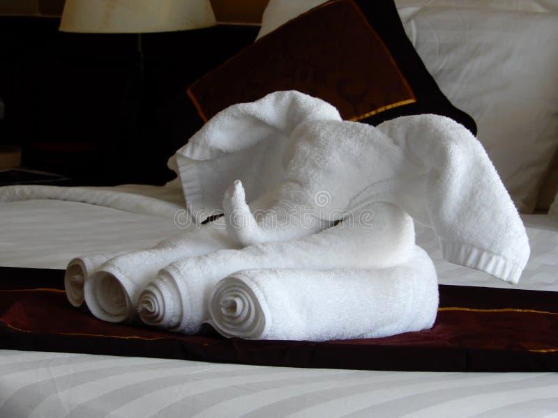 Pliage artistique de serviette image stock