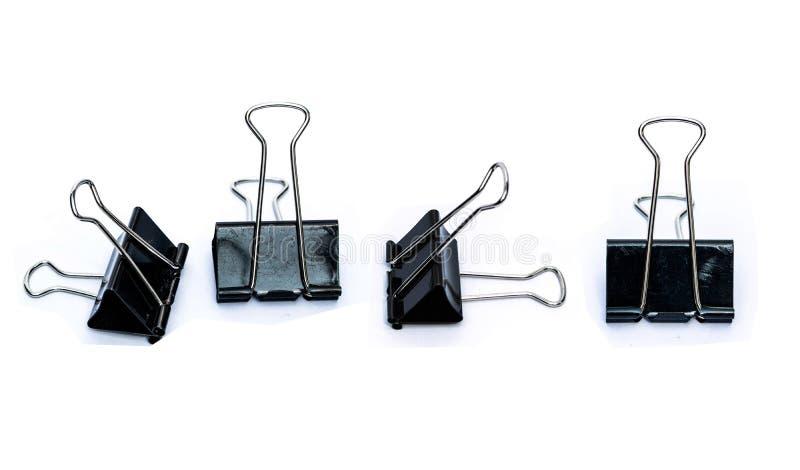 Pliegue los clips para el mobiliario de oficinas fotos de archivo