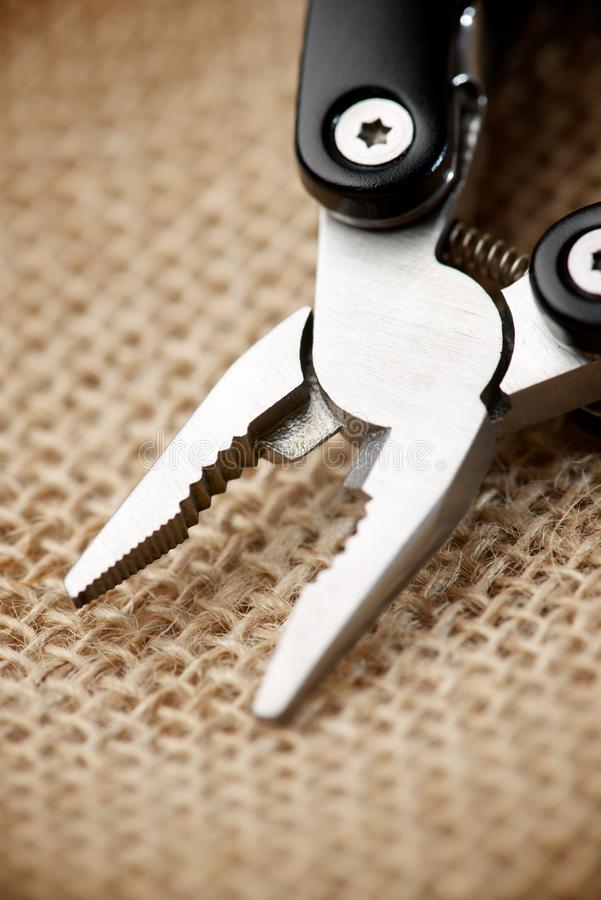 Pliers close up stock image
