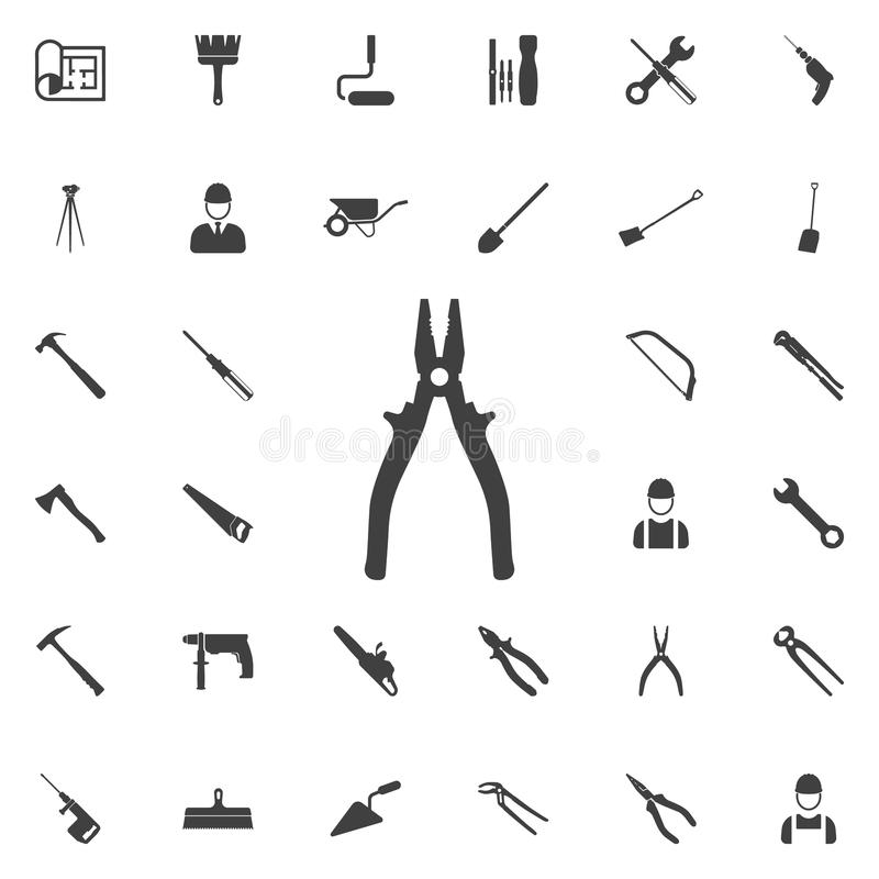 Pliers icon. Construction icons universal set for web and mobile stock illustration