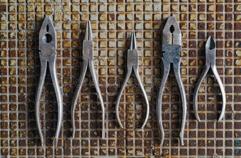 Download Pliers on Metal stock photo. Image of work, gripping - 33181814