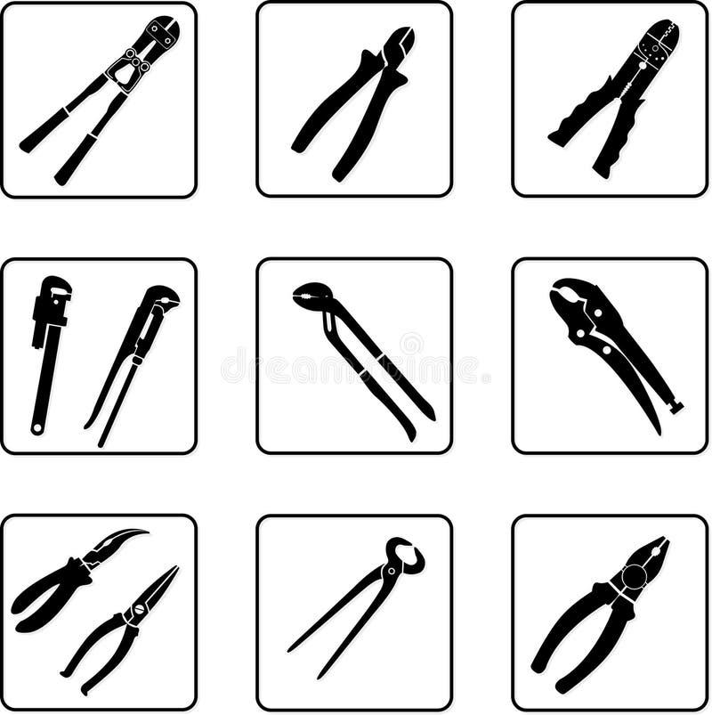 Pliers, pincers, cropper vector illustration