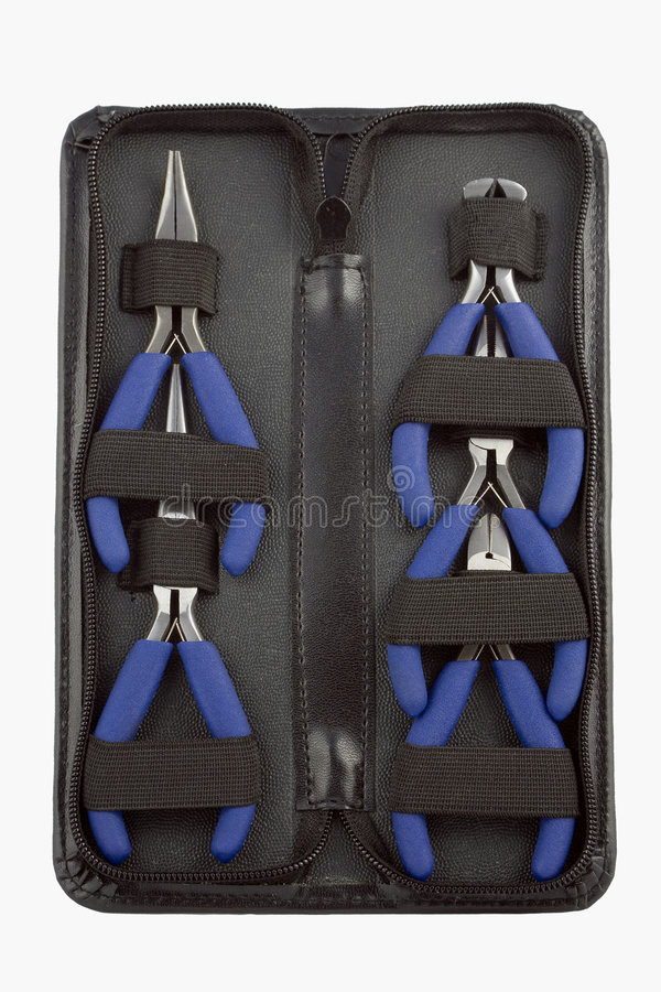 Pliers set stock photos