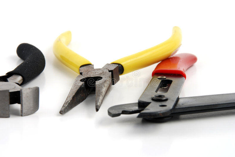 Pliers and wire cutters royalty free stock photography