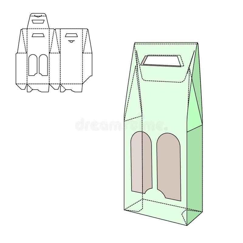 Pliez le paquet illustration stock