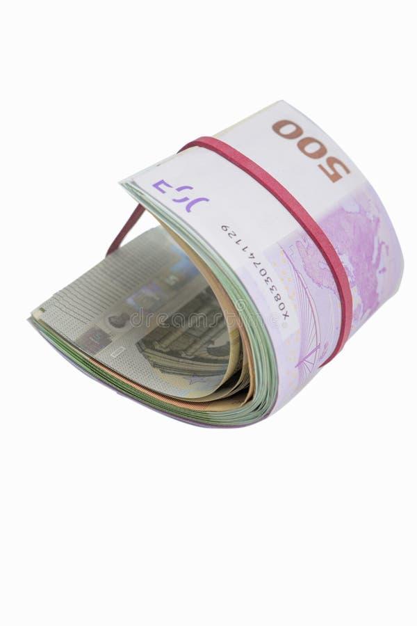 Plik Europejscy waluta banknoty odizolowywający Nad Czystym bielem zdjęcie stock