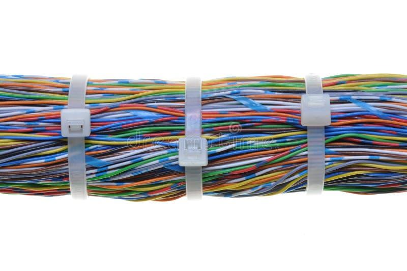 plika kablowi kabli krawaty biały fotografia royalty free