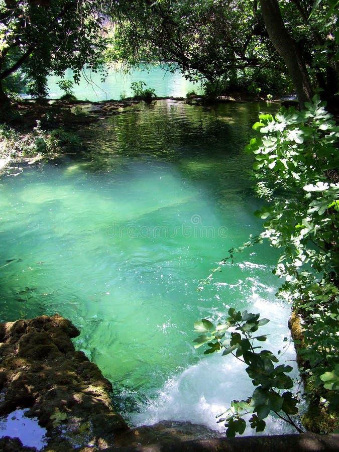 plitvic的湖 库存图片