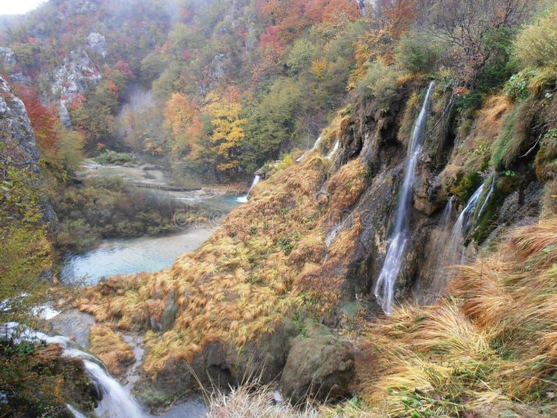 Plitvice国家公园在秋天 库存照片