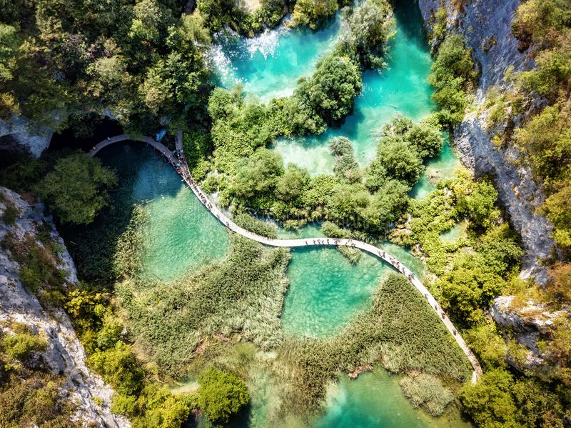 Plitvice湖国家公园克罗地亚 免版税库存图片