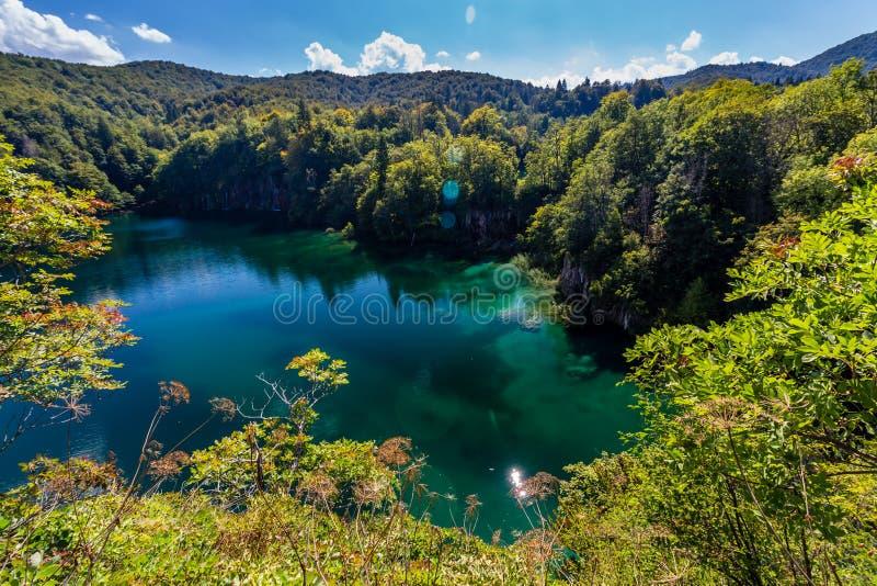Plitvice湖国家公园,克罗地亚的维尔京本质 图库摄影