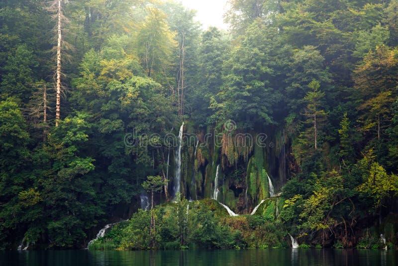 Plitvice湖风景 免版税库存图片