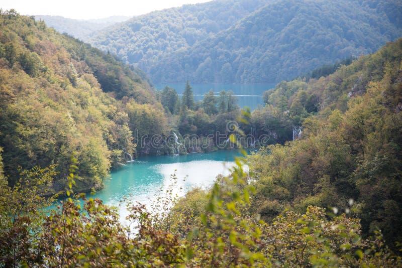 Plitvice εθνικό Parkin όμορφη Κροατία στοκ εικόνες