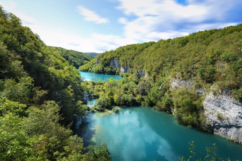 plitvice croatia jezior obraz royalty free