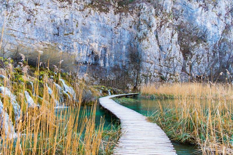 plitvice de stationnement national de lacs de la Croatie image libre de droits
