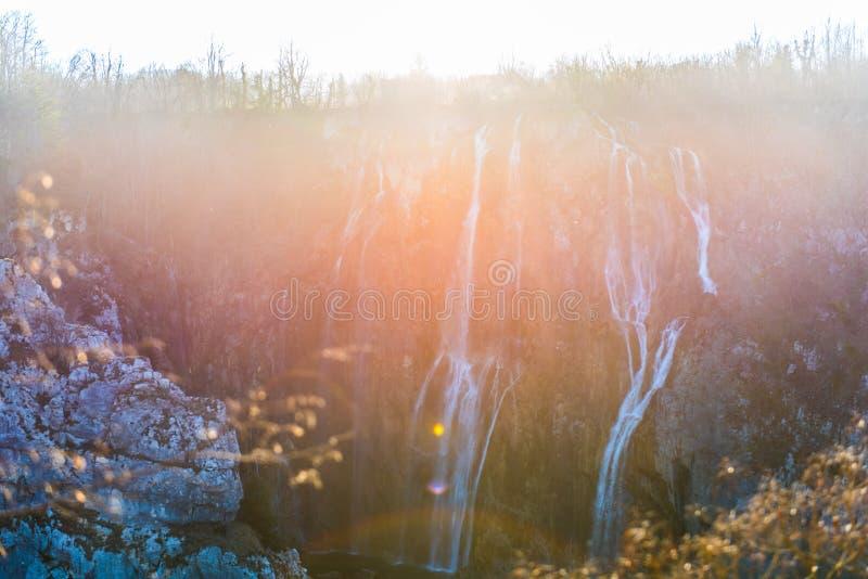 plitvice de stationnement national de lacs de la Croatie photos libres de droits