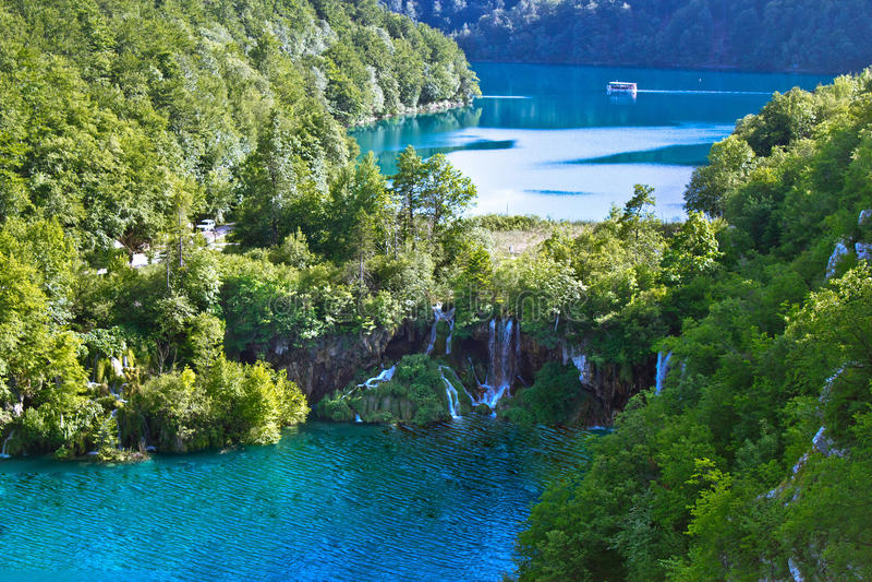 Plitvice jezior parka narodowego siklawa fotografia stock