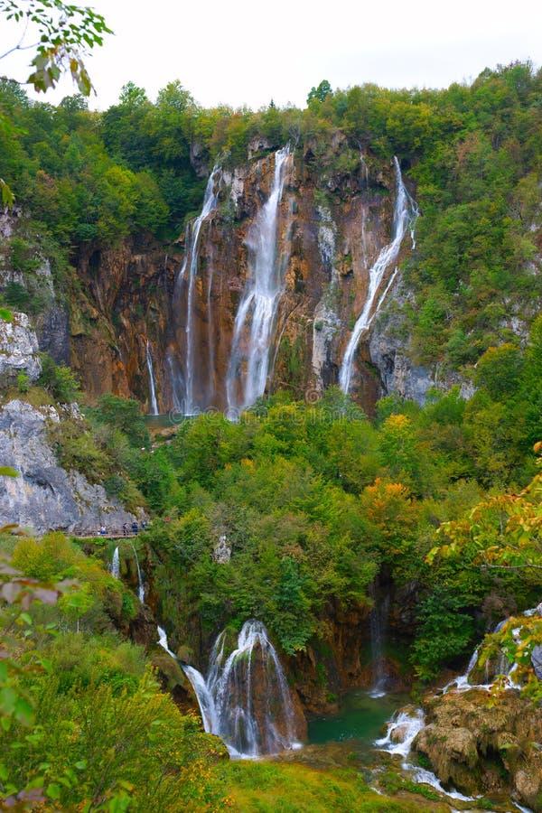 Plitvice jeziora, Chorwacja fotografia stock