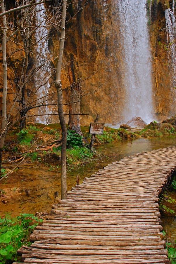 Plitvice Kroatien för Lakesnationalpark arkivbilder
