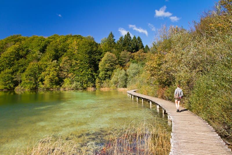Download Plitvice lake path stock image. Image of jezera, activity - 28803819