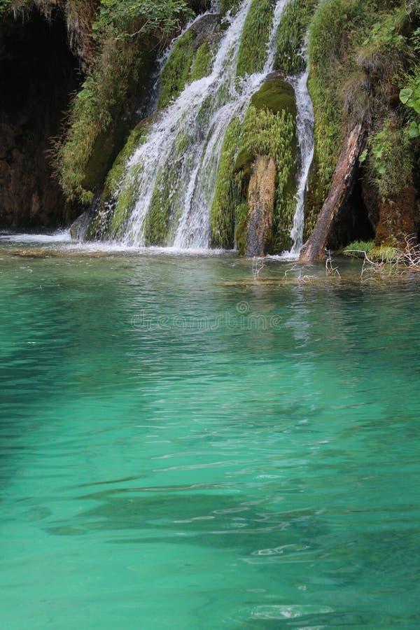 Plitvice lakes Park, Croatia, natural waterfalls and streams of water stock images